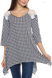 KITTY COUTURE  Houndstooth Lace Tunic - Product Mini Image