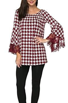 Shoptiques Product: Houndstooth Lace Tunic