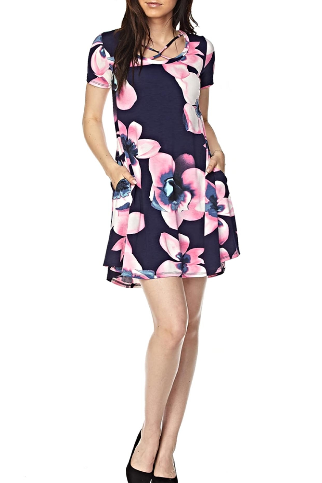 KITTY COUTURE  Navy Floral Tunic - Main Image
