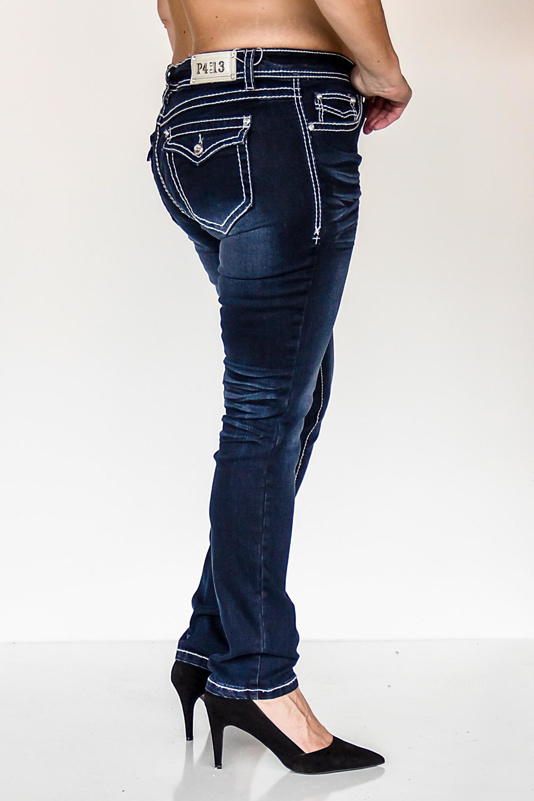 KITTY COUTURE  P413 Denim Jeans - Front Full Image