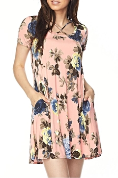 KITTY COUTURE  Peach Floral Tunic Dress - Alternate List Image