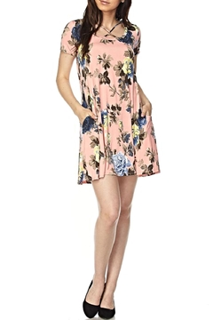 Shoptiques Product: Peach Floral Tunic Dress