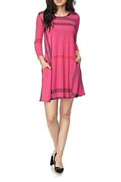 Shoptiques Product: Pink Plaid Tunic
