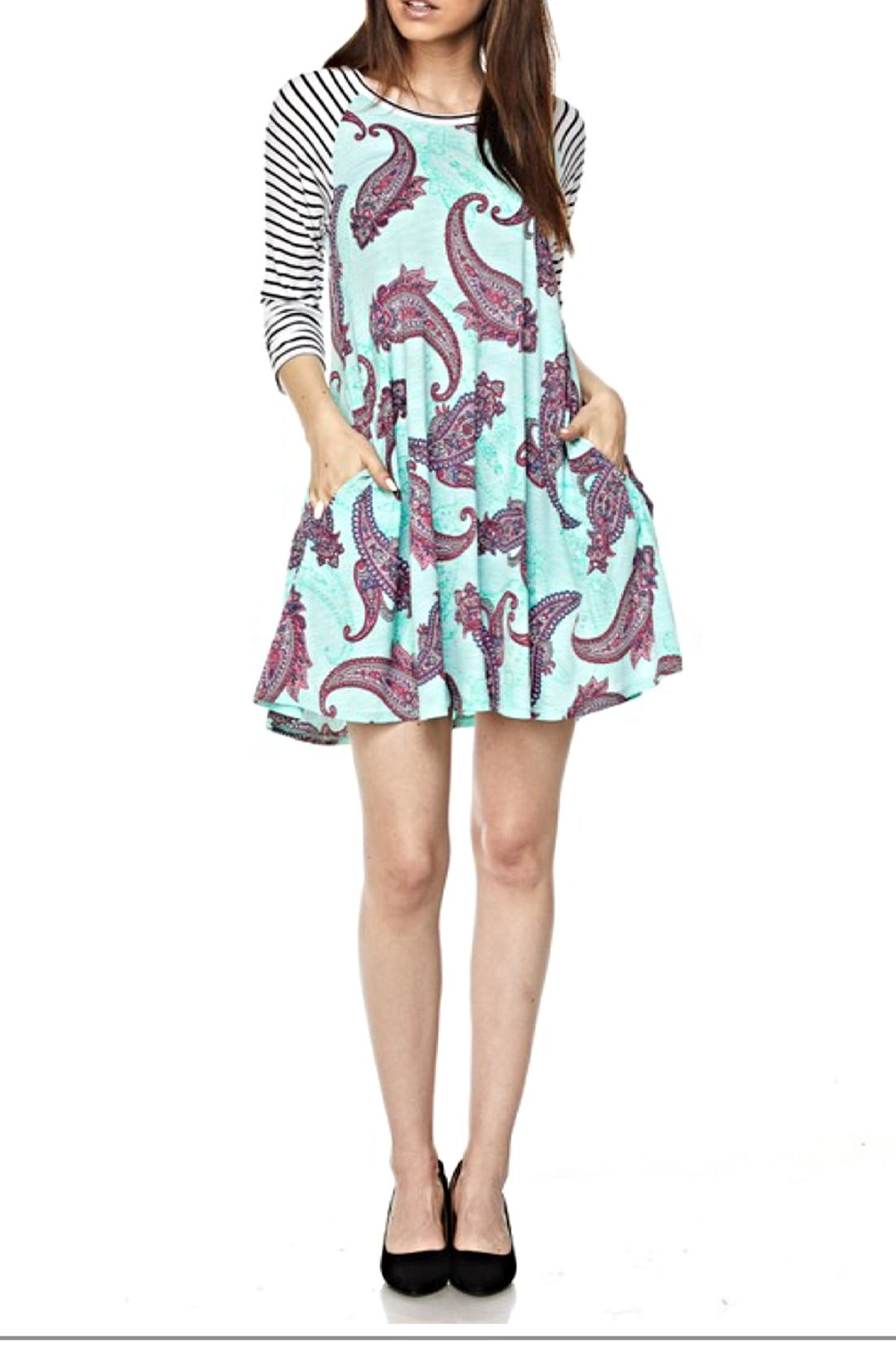 KITTY COUTURE  Printed Contrast Tunic - Main Image