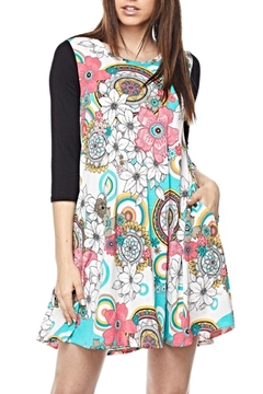 Shoptiques Product: Printed Contrast Tunic