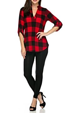 Shoptiques Product: Red Plaid Tunic