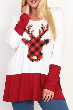 Shoptiques Product: Reindeer Plaid Tunic