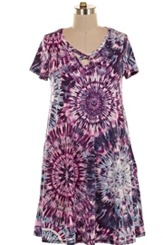 KITTY COUTURE  Tiedye Strappy Tunic - Product Mini Image