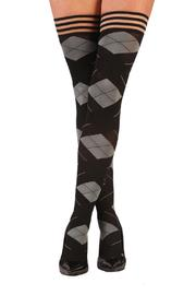 Shoptiques Product: Argyle Thigh-High Tights
