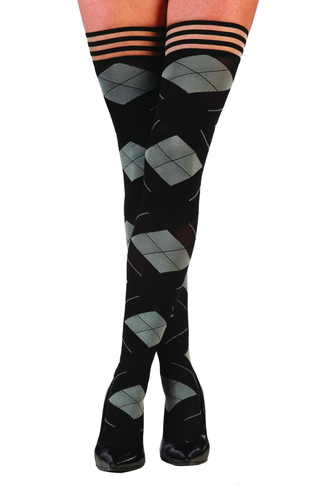 Kix'ies Thigh Highs Argyle Thigh High - Front Cropped Image