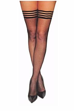 Shoptiques Product: Black Fishnet Thigh High