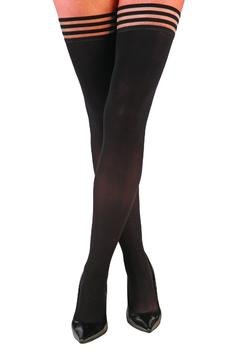 Shoptiques Product: Black Ribbed Thigh High