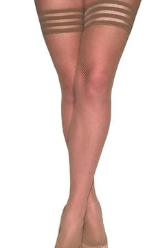 Shoptiques Product: Nude Fishnet Thigh-High
