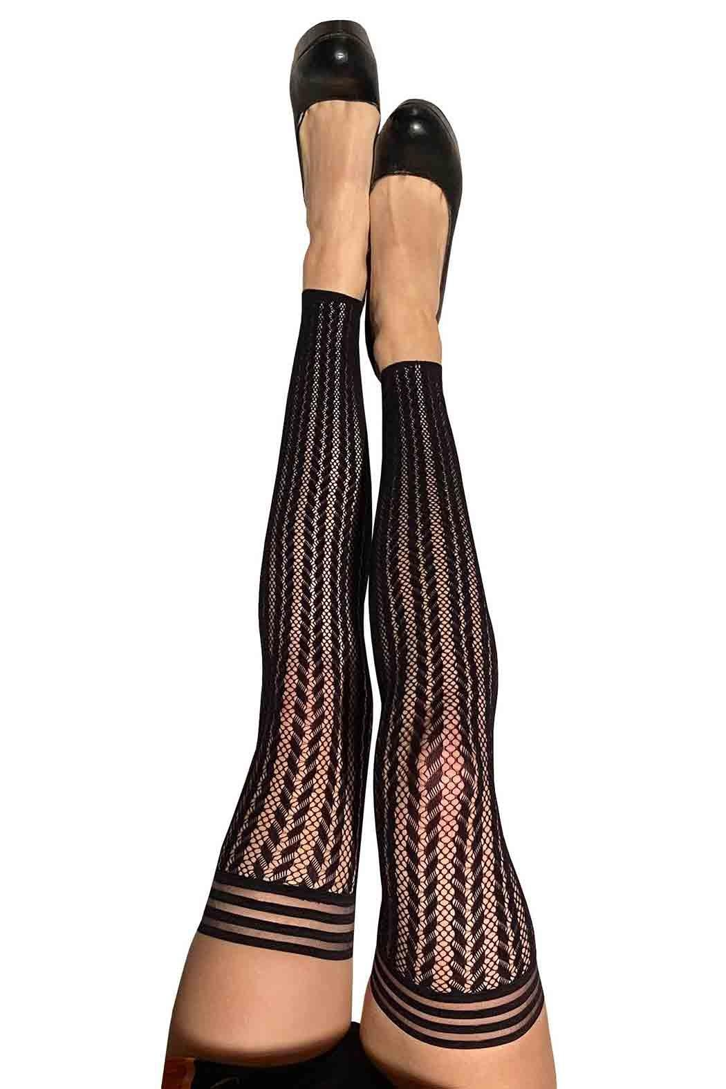 Kix'ies Thigh Highs Thigh High Tights - Front Cropped Image