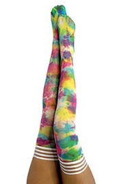 Kix'ies Thigh Highs Tie-Dye Thigh High - Front cropped