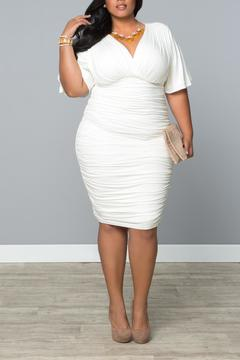 Kiyonna Ruched Cocktail Dress - Product List Image