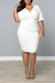 Kiyonna Ruched Cocktail Dress - Front full body