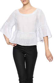 Kleen Linen Ruffle Top - Product Mini Image