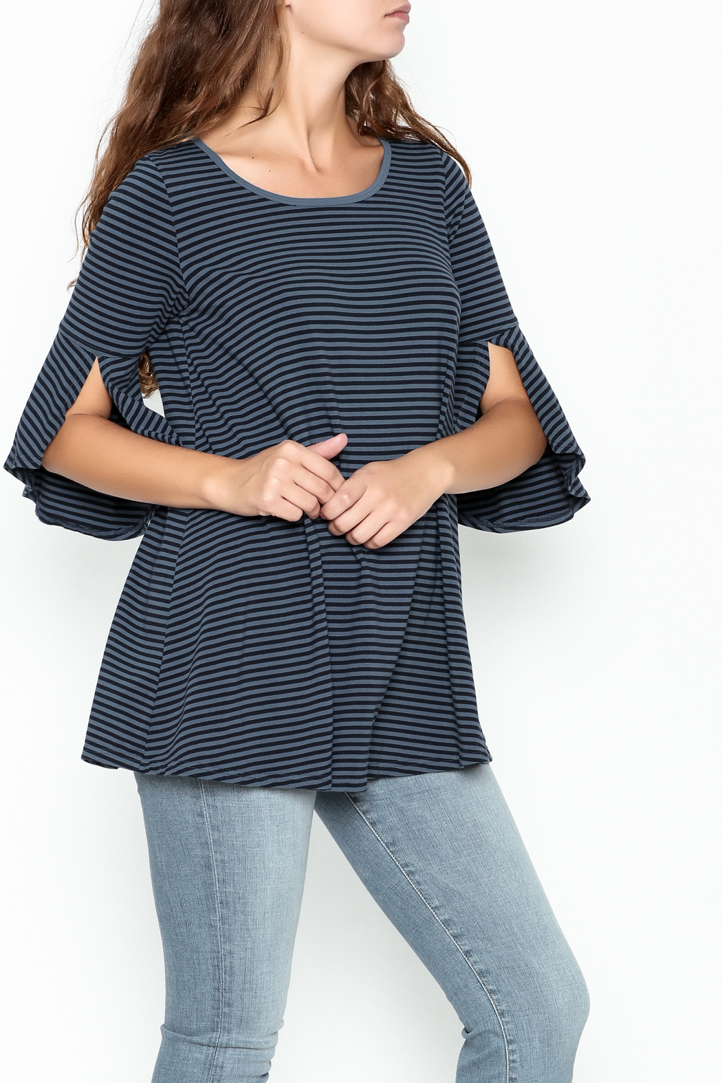 Kleen Stripe Bell Top - Main Image