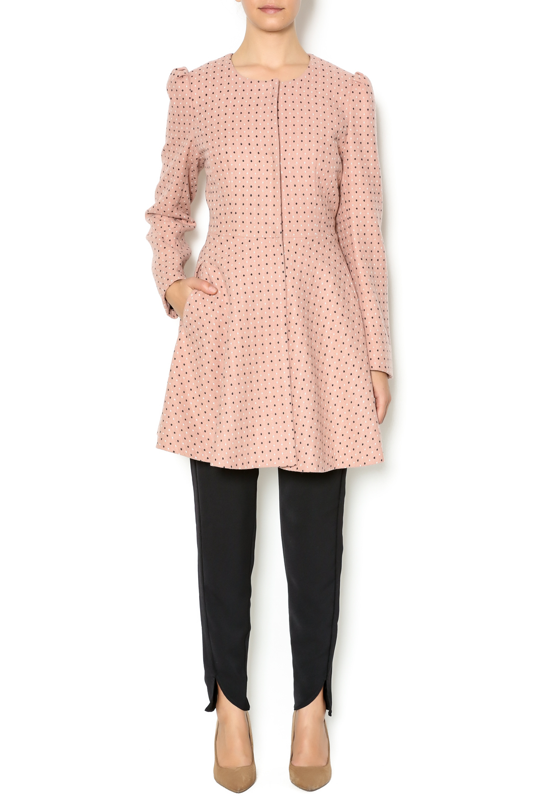 Kling Blush Car Coat - Front Full Image