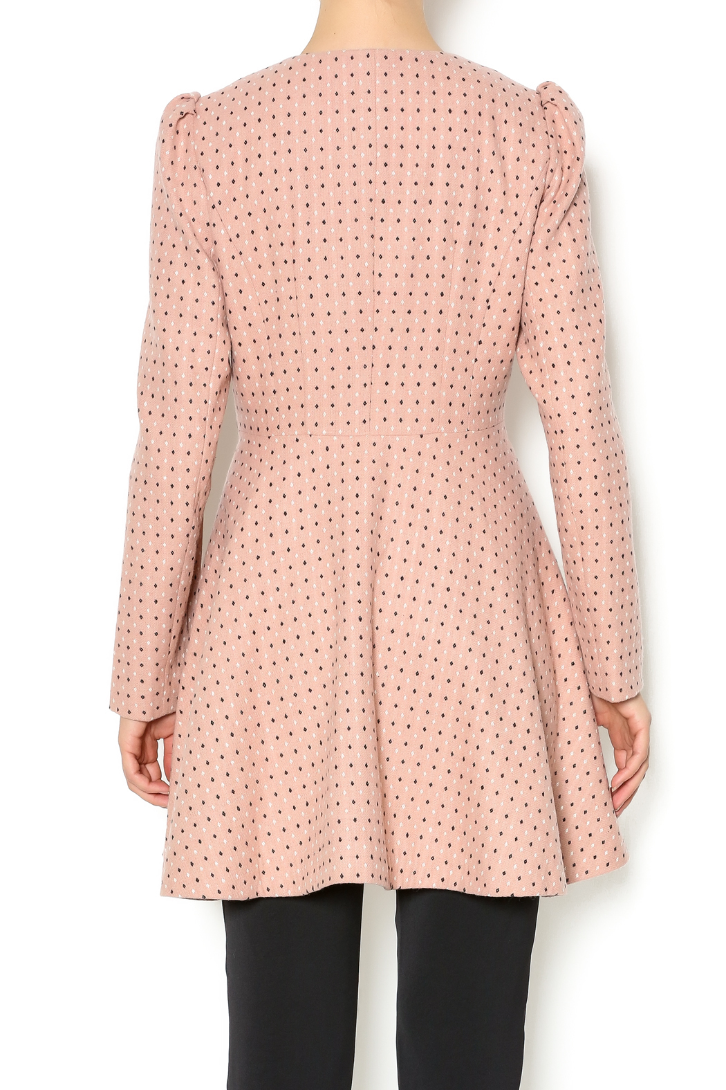 Kling Blush Car Coat - Back Cropped Image