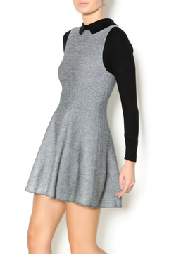 Shoptiques Product: Grey Black Fitted Dress