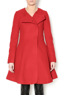 Kling Red A-Line Coat - Product List Image
