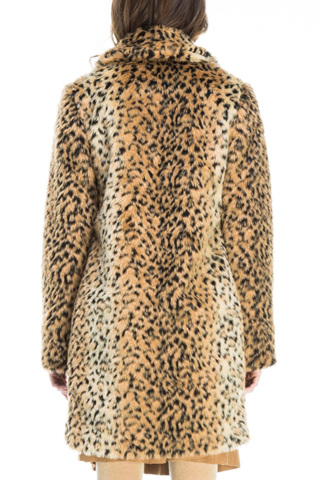 Kling Ursa Cheetah Coat - Back Cropped Image