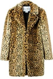 Kling Ursa Cheetah Coat - Front cropped
