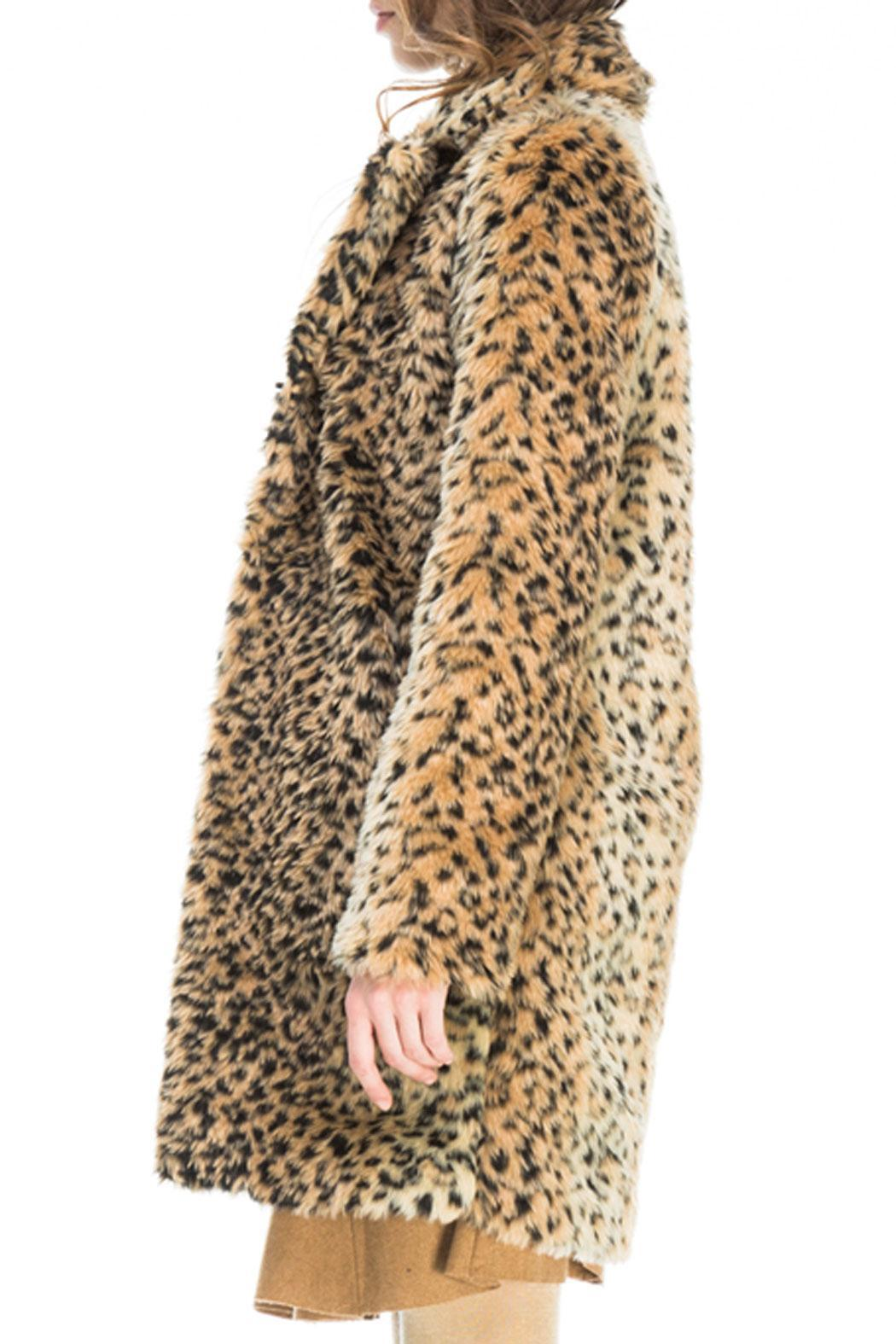Kling Ursa Cheetah Coat - Side Cropped Image