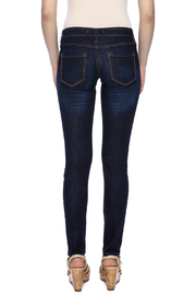 Klique B Dark Rinse Skinny Jean - Back cropped