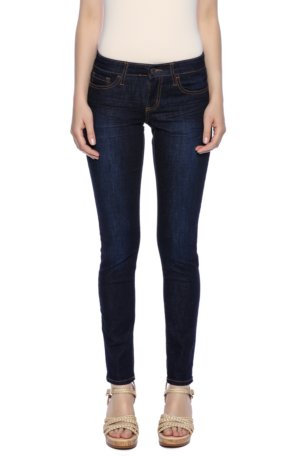 Klique B Dark Rinse Skinny Jean - Side Cropped Image