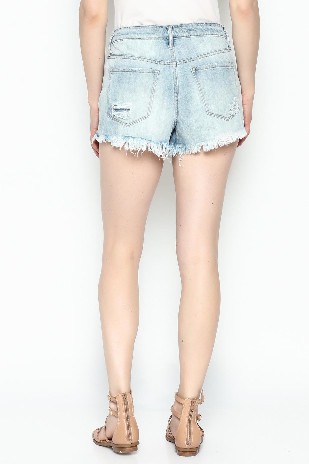 Klique B Denim Cutoff Shorts - Back Cropped Image