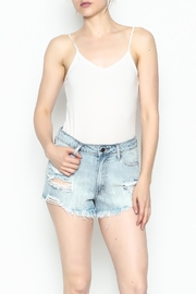 Klique B Denim Cutoff Shorts - Side cropped