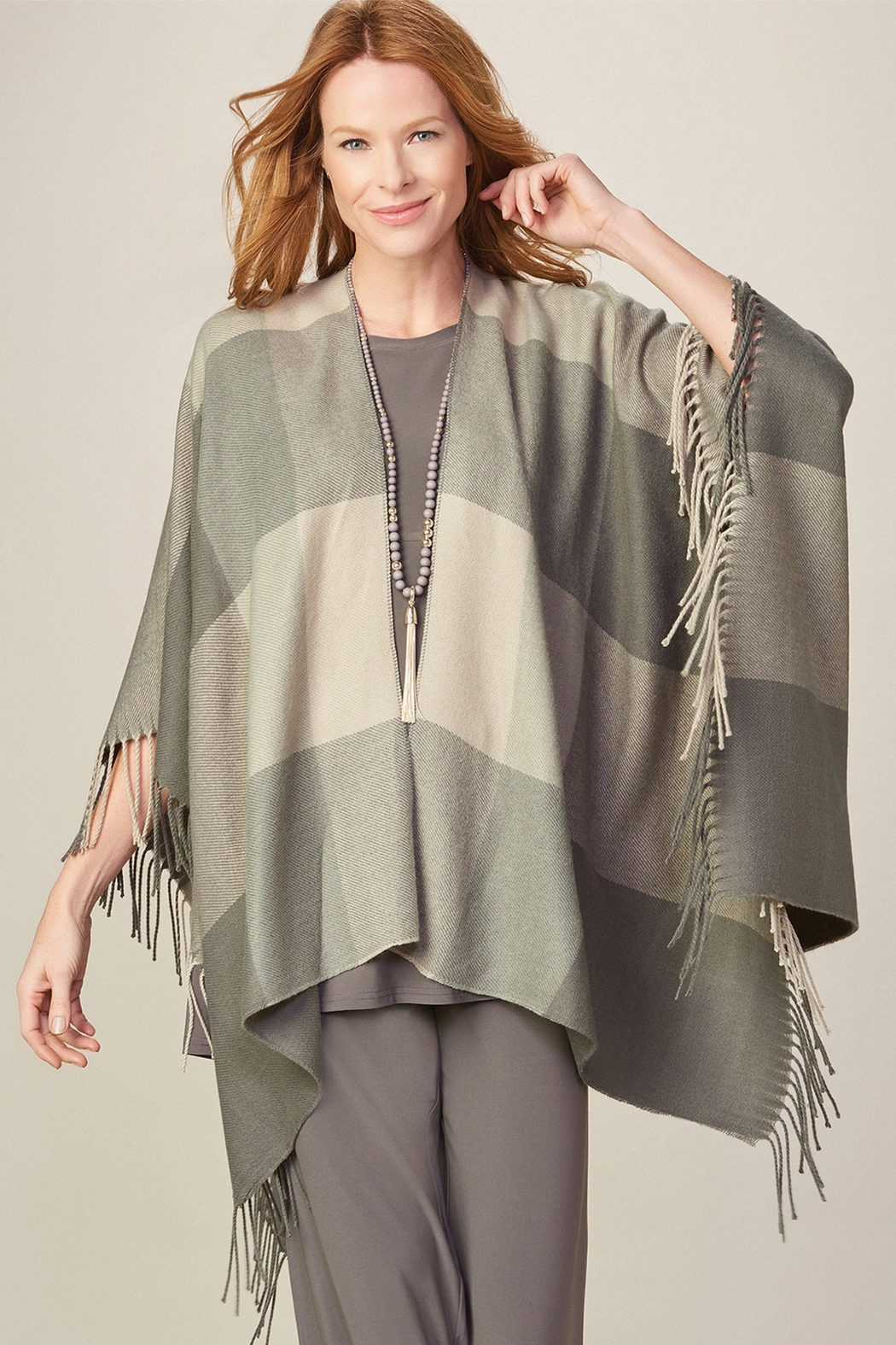 Gift Craft Kloe Poncho - Front Cropped Image