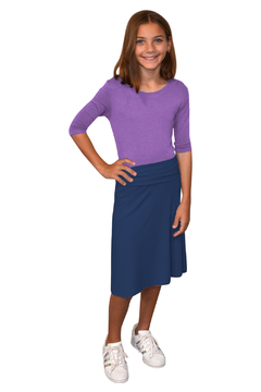 Kosher Casual Knee Length A-Line Skirt for Girls - Product List Image
