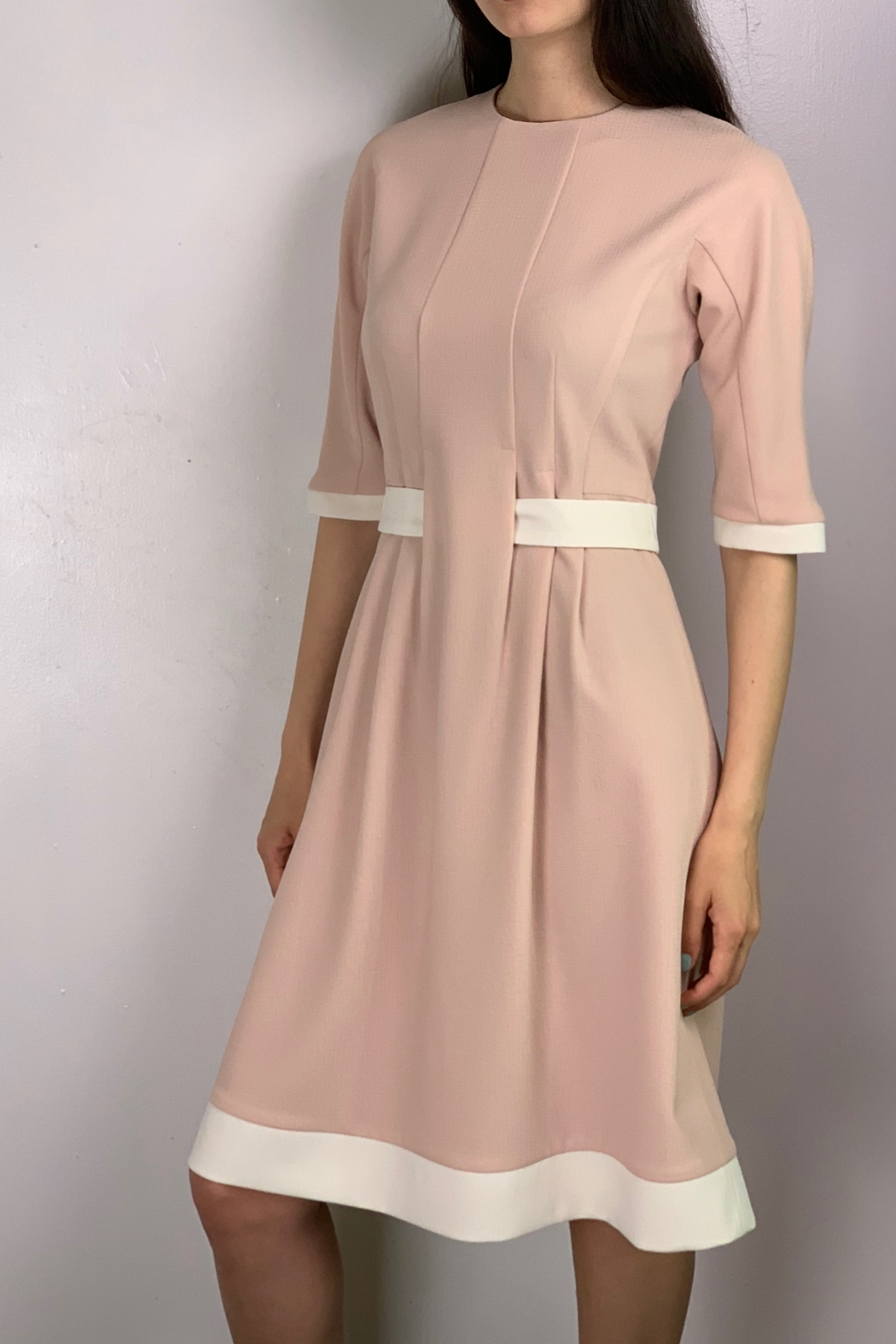 Mossaic Knee length flare dress - Front Cropped Image
