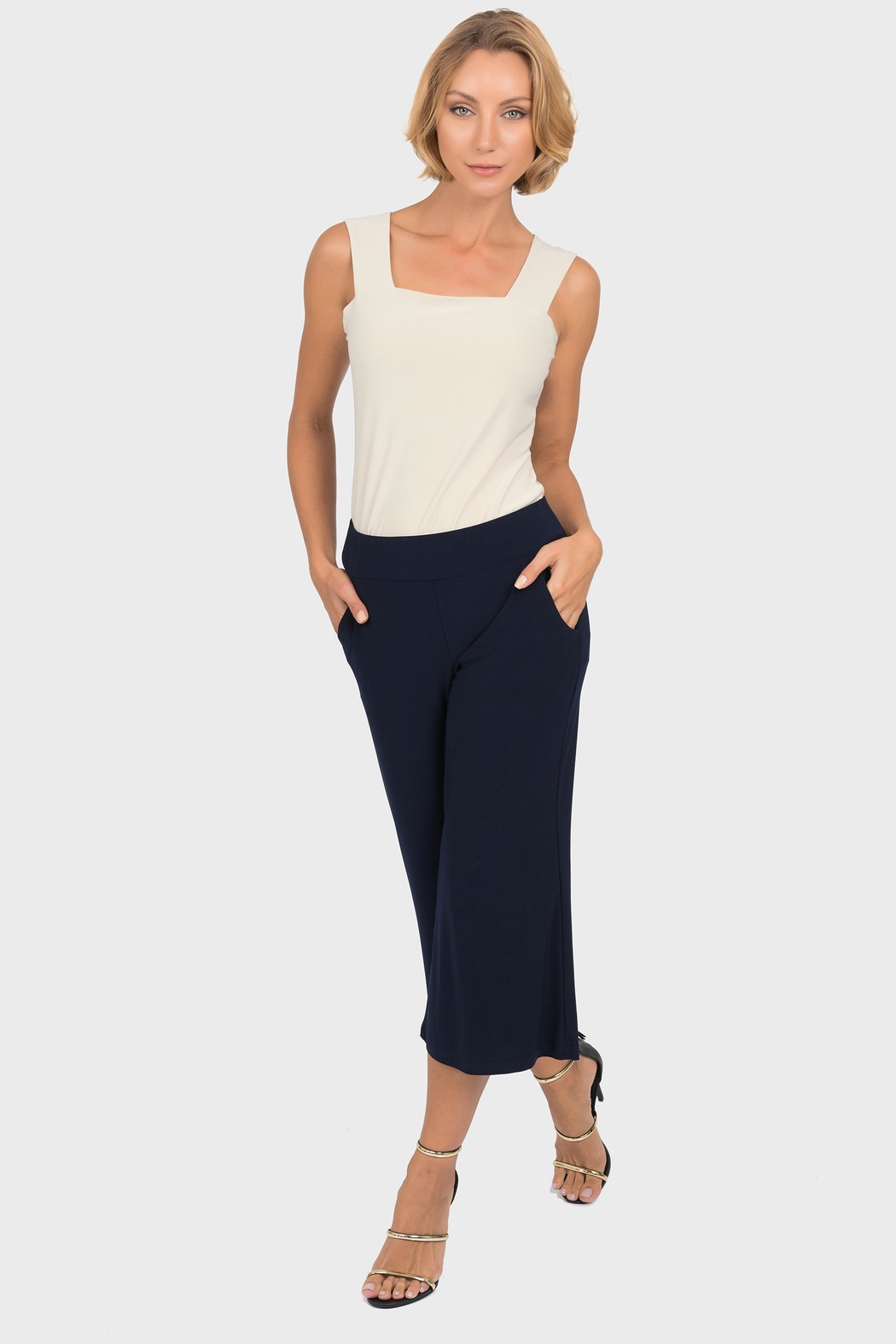 Joseph Ribkoff Knee Length Gaucho - Back Cropped Image