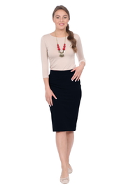 Kosher Casual Knee-length Pencil Skirt Fitted in Cotton Lycra - Product Mini Image
