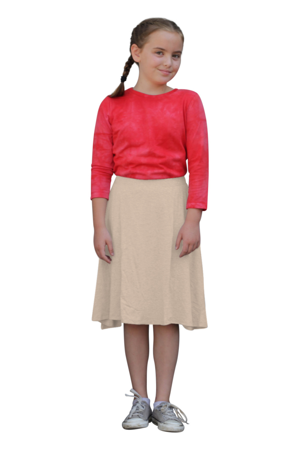 Kosher Casual Knee Length Skater Skirt - Main Image