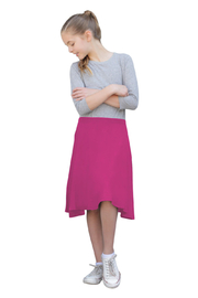 Kosher Casual Knee Length Skater Skirt - Front cropped