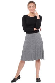 Kosher Casual Knee-Length Skater Skirt with Full A-line Cut - Front cropped