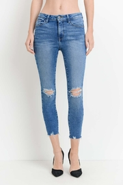 just black Knee Slit Denim - Product Mini Image