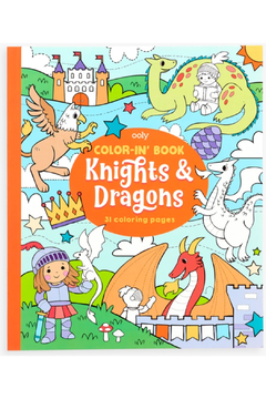 Ooly Knights and Dragons Coloring Book - Product List Image