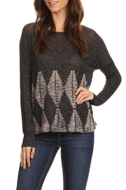 T Party Knit Abstract-Graphic Top - Product Mini Image