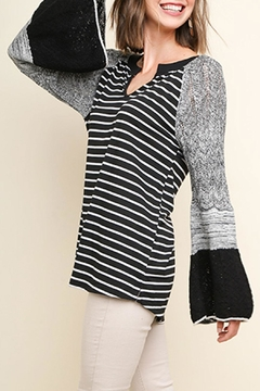 Umgee USA Knit Bell-Sleeve Top - Product List Image
