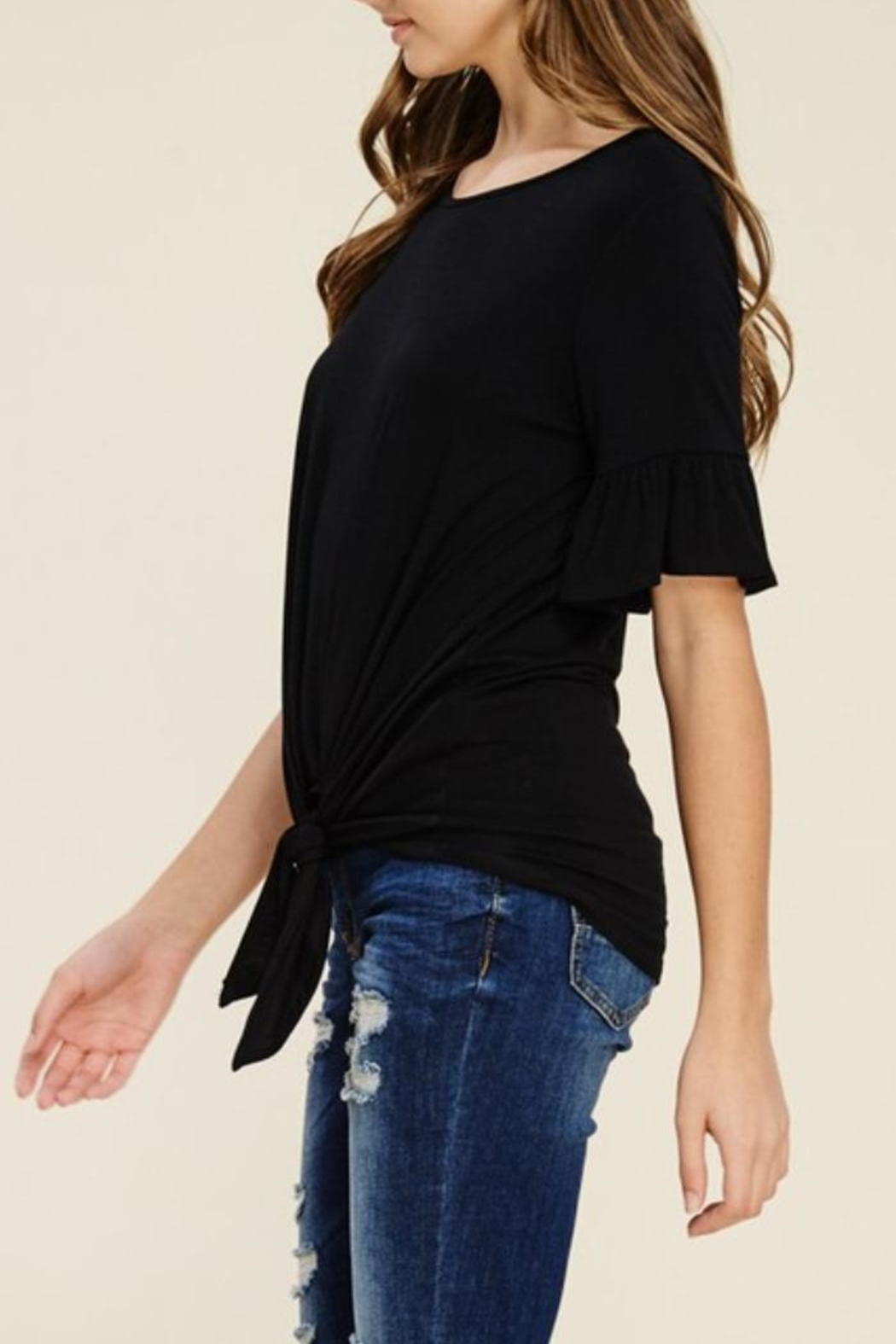 annabelle Knit Bell-Sleeve Top - Front Full Image