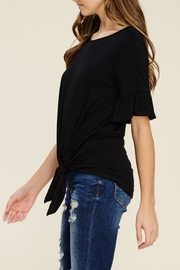 annabelle Knit Bell-Sleeve Top - Front full body