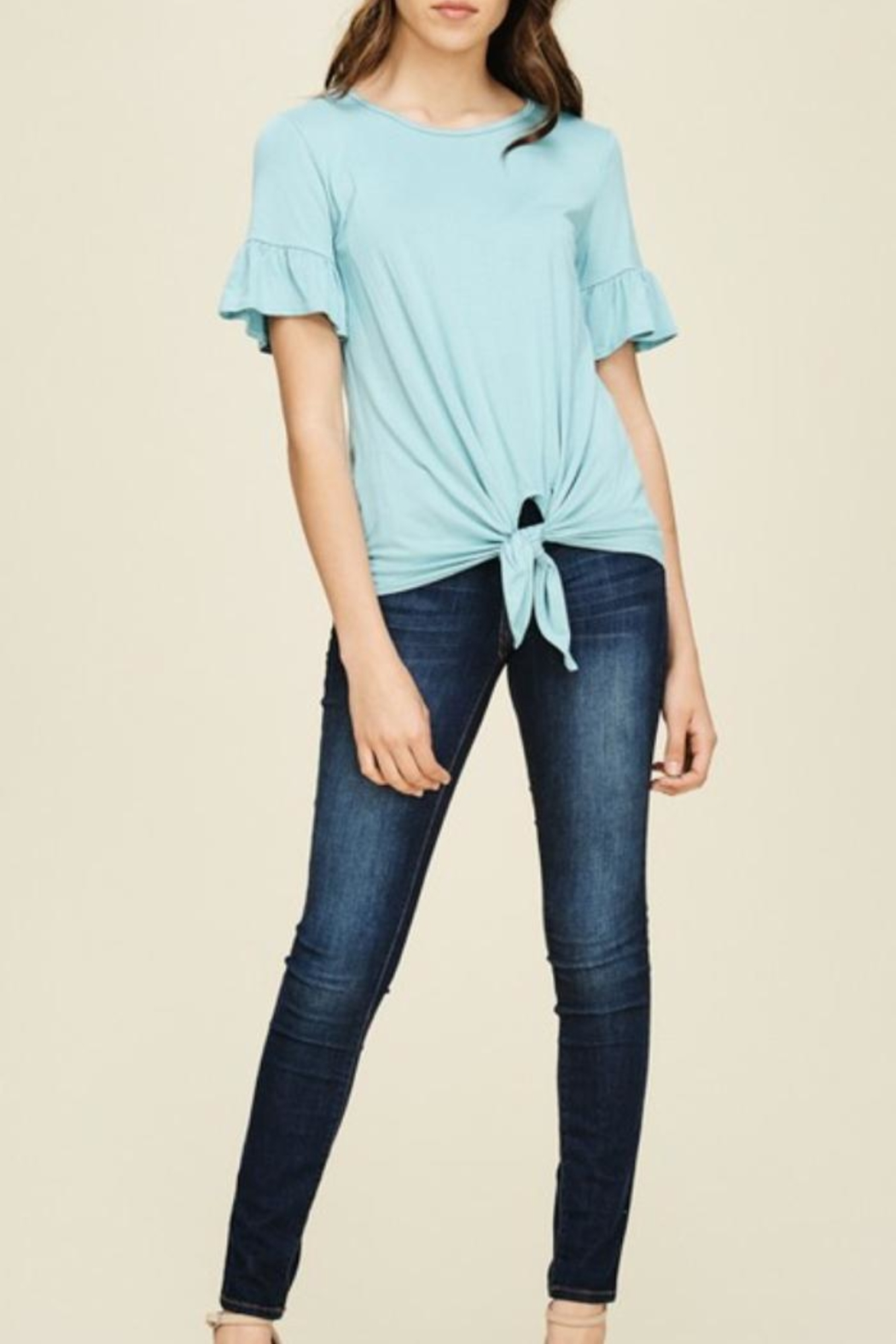 annabelle Knit Bell-Sleeve Top - Side Cropped Image