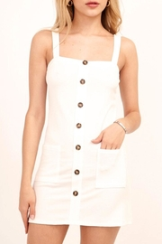 Olivaceous Knit Button Dress - Product Mini Image